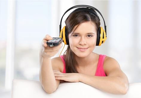 Sound, headphones, earphones.
