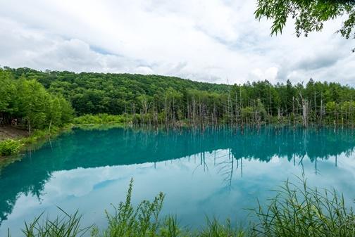 Достопримечательности Японии Голубой пруд