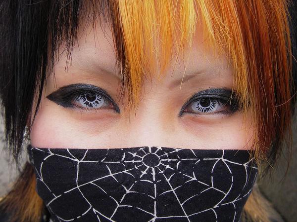 Японские маски в стиле Вижуал-кэй