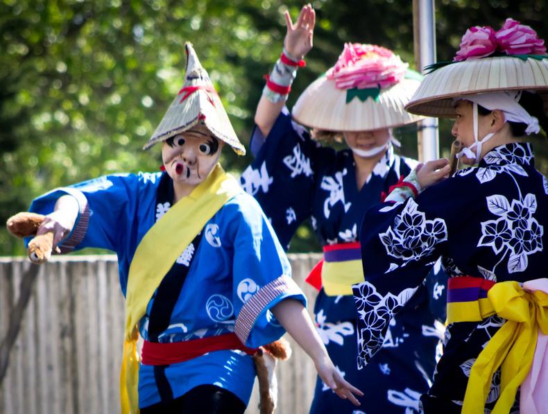 Японские маски. Маски духов и мифических существ