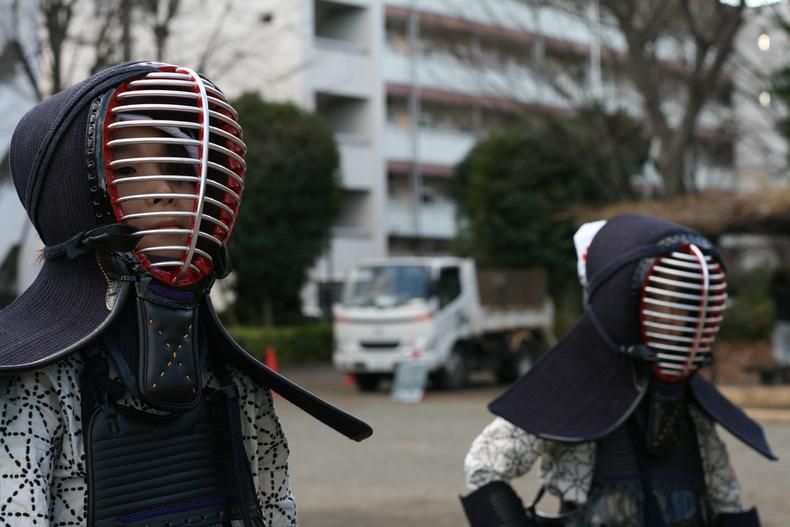 Японские маски. Маска для кэндо