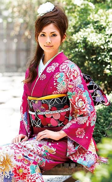 девушка в кимоно, Япония