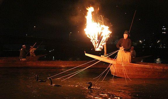 Укаи-ночная рыбалка с бакланами. Япония2